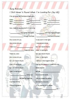 Lots of current and classic songs with classroom activities (PDFs)