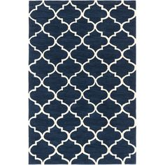 Found it at Wayfair - Holden Finley Navy/Ivory Area Rug