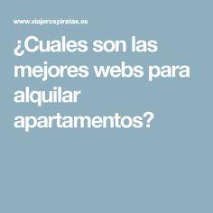¿Cuales son las mejores webs para alquilar apartamentos?