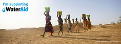 Collecting water in Mali
