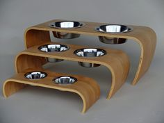 Modern Raised Dog Feeders from Claymark Furniture