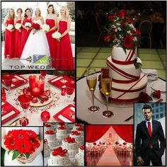 Red Theme Wedding Decor... Something different than roses!!!