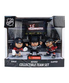 Look at this #zulilyfind! Chicago Blackhawks Lil' Teammates Figurine Set by Party Animal #zulilyfinds
