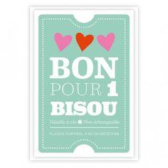 Carte - Bon pour 1 bisou
