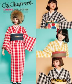 Japanese Outfits, Japanese Fashion, Cute Kimonos, Yukata, Japanese Kimono, Kimono Fashion, Traditional Outfits, Collection, Naver