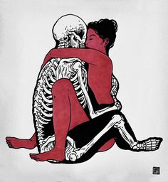 by Broken Fingaz (Disturbing image, Is she loving someone who is dead, or is she in love with death?)