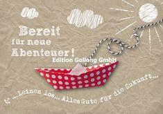 """Grußkarte """"Bereit für neue Abenteuer !"""" Abschied Kollege*12,5x18,5*Doppelkarte"""