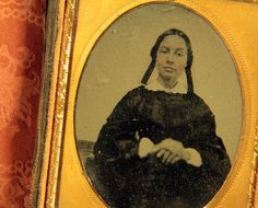 Antique  Very Early Ambrotype Unusual HandTinted