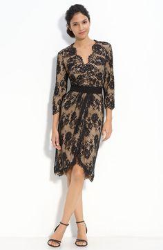 Tadashi Shoji Faux Wrap Lace Dress | Nordstrom