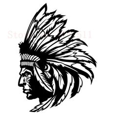 Native American Wall Sticker (Indian Chief)