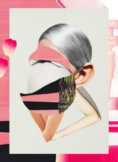 Saggy Eyes #Illustration #collage #saggy #eyes #pastels #metamorphosis #body #glitch #cutup #heidiandreasen #heidi #andreasen