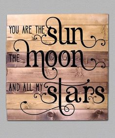 Look at this #zulilyfind! 'You Are The Sun' Wood Sign #zulilyfinds