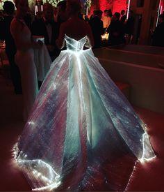 Claire Danes in a Fiber Optic Dress