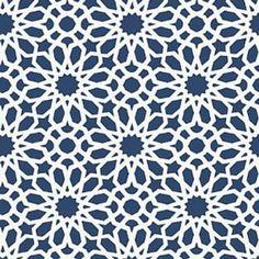 Schumacher Agadir Screen Lapis Wallpaper:  Powder room