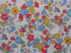 vintage polycotton dress fabric