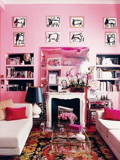 French fashion designer, author, model and muse Inès de la Fressange didn't hold back when she decorated her Paris apartment. This is the epitome of femininity—bold, chic, eclectic, artistic, and pink, very, very pink. It's brave and authentic, two French attributes we hold so dear.