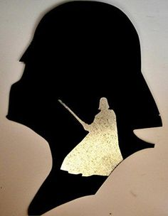 Darth Vader Helmet Lightsaber Star Wars Vector Outline Metal Cutout Spray Paint Art *** Check out the image by visiting the link.