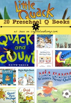 20 Preschool Q Books collage