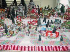 North Pole Village Dept 56 Display