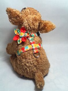 Adjustable Dog Harness / Polka Dot Pattern by chiwawagearharnesses, $20.00