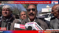 J&K Ex-Central Para Military Force Welfare Association protest for OROP