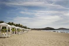 Beach Cabanas at the 4 Star Pueblo Bonito Emerald Bay Resort & Spa - All Inclusive.  #Mazatlan #Mexico #Resort #Vacation  Save 45% on your stay!