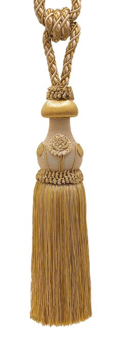 """Decorative Gold Curtain & Drapery Tassel Tieback /12"""" tassel, 32"""" Spread (embrace), 7/16"""" Cord, Baroque Collection Style# TBBL-1 Color: GOLD MEDLEY 8633"""