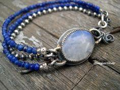 Artisan Jewelry Rustic Multi Strand Bracelet by SimpleeSilver