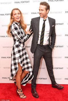 Blake Lively and Ryan Reynolds flirt at Final Portrait premiere | Daily Mail Online