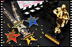 Hollywood Half Marathon Star Medals Collectors Set. Bling. Running. Star. Oscars. Gold. Diamond. Ruby.