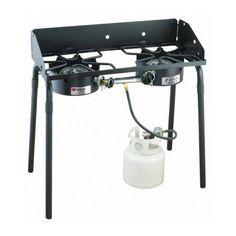 Gas-Stove-Propane-2-Burners-Outdoor-Catering-Party-Tailgate-Range-Oven-Camping
