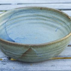 Large Bowl, With Striking Blue Brown Glaze. Paul Mossman Pottery