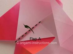 Origami 4-Pointed Star Folding Instructions - How to fold a 4-Pointed Star Origami part2