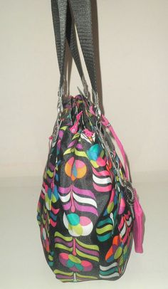 recycling purses bags   ... KARMA FLOWER RECYCLED FABRIC TOTE BAG NWT $65 - Handbags & Purses