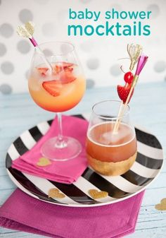 Even the mom-to-be can enjoy a toast  at her baby shower celebration with these delicious, non-alcoholic mocktail recipes! These drink ideas are a great way to add a bit of fun, flavor, and style to the party.
