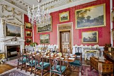 Castle Howard Crimson Dining Room jigsaw puzzle in Castles puzzles on TheJigsawPuzzles.com