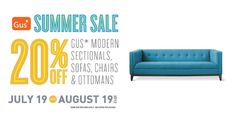 Save 20% off Sofas, Sectionals, Chairs and Ottomans