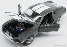 AUTOWORLD AMM1060/06 Scale 1/18  FORD USA SHELBY MUSTANG GT350 COUPE 1967 GREY MET WHITE