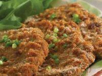 Como fazer receita simples e fácil de Bife à milanesa de forno que fica muito crocante e o melhor é que não tem fritura