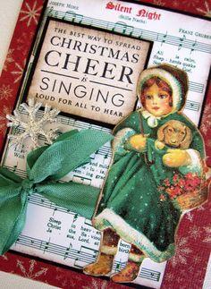 Christmas Card, Holiday Cards, Handmade Christmas Cards, Victorian, Set of 5. $20.00, via Etsy.