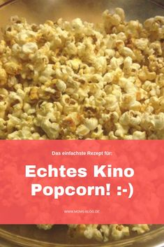 With this trick popcorn tastes like in the cinema!-Mit diesem Trick schmeckt Popcorn wie im Kino! Cinema – popcorn: super simple & really tasty! Super Simple, Cinema Popcorn, Pop Corn, Diy Snacks, Snack Recipes, Healthy Recipes, Healthy Eating Tips, Food Lists, Popcorn