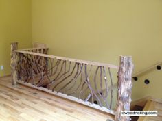 rustic deck rails | Rustic Railing- for the loft we are going to make