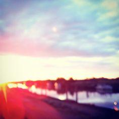 Rainbow colored sunset