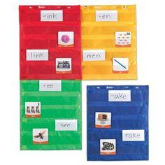 Ressources -ducatives LER2384 magn-tiques Pocket Chart Squares Learning 25€