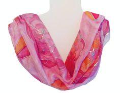 Silk Scarf Hand Painted Zijden sjaal met de hand door Silkatelier