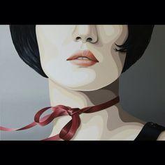 """""""Let it flow"""" by Duma Oil on canvas, 80 x 80 cm"""