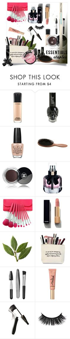 """""""Makeup Bag"""" by neno-957 ❤ liked on Polyvore featuring beauty, MAC Cosmetics, OPI, Phyto, Chanel, Yves Saint Laurent, Sephora Collection, Too Faced Cosmetics, Lancôme and contestentry"""