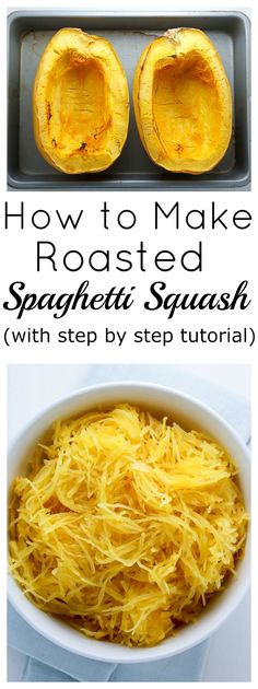 Learn how to make Roasted Spagehtti Squash the easy way! This method works PERFECTLY every-single-time.