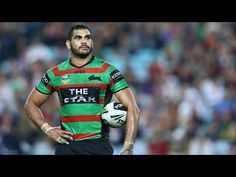 Greg Inglis of the Rabbitohs watches the big screen for a video referee decision during the round nine NRL match between the South Sydney Rabbitohs and the North Queensland Cowboys at ANZ Stadium on May 2013 in Sydney, Australia. Rugby League, Rugby Players, Australian Football, Sexy Men, Hot Men, Men In Uniform, Referee, Sports Stars, Sport Man