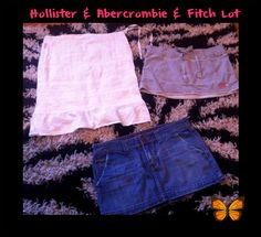 3 piece JR clothing  skirt LOT women's clothing lot Hollister Abercrombie fitch #AbercrombieFitchHollister